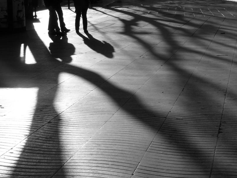 sombras sobre La Rambla