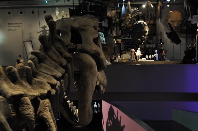 titeres etcetera, dinosaurio y taller