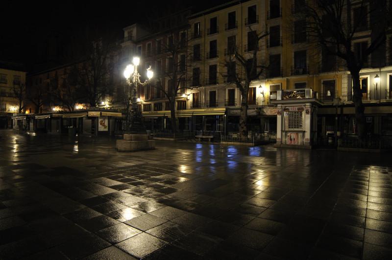 bibrrambla nocturna tras la lluvia, detalle
